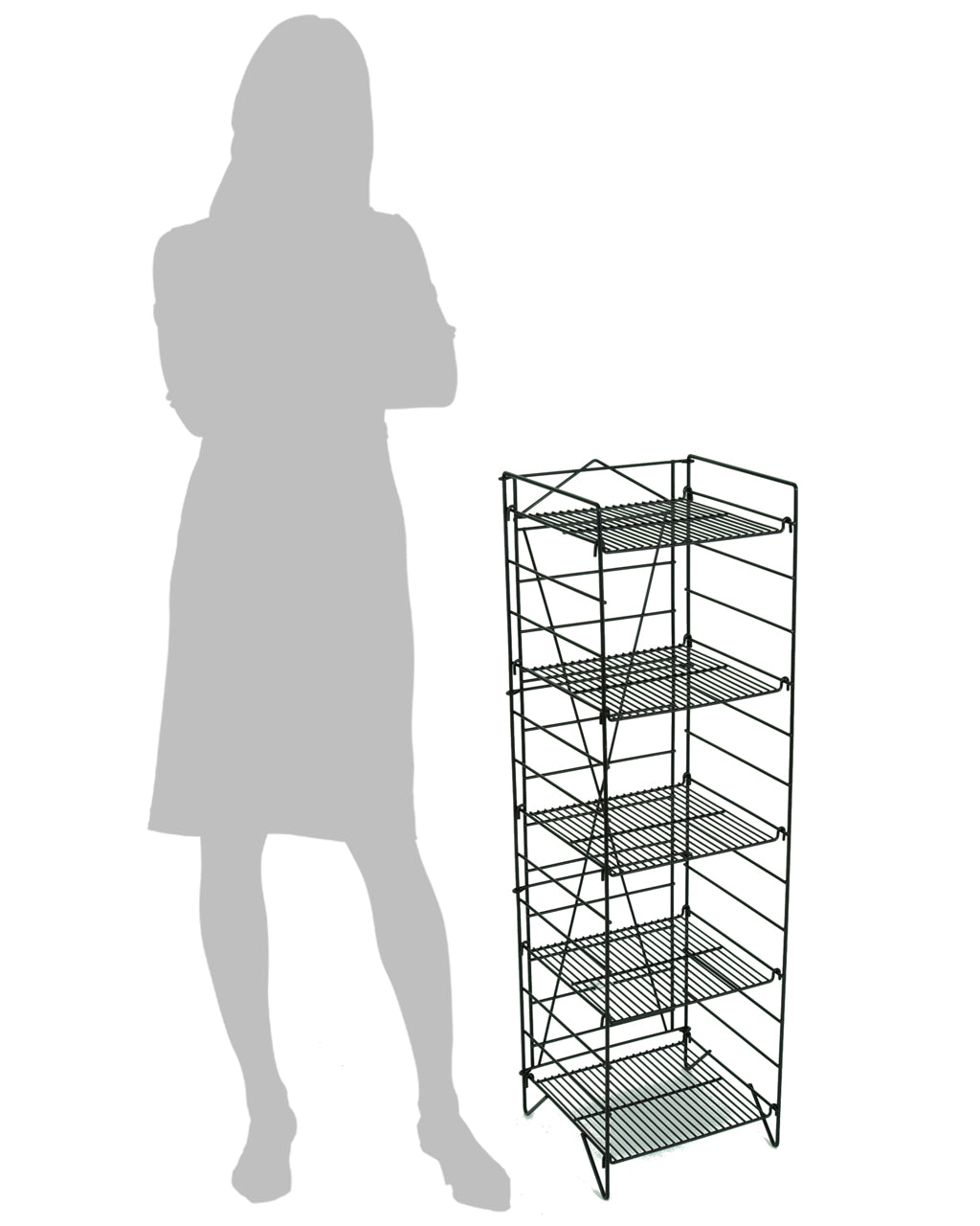 Mini Black Foldout  - 5-Shelf