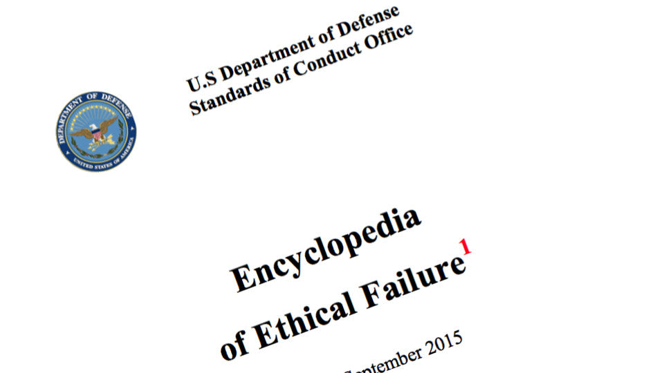 Encyclopedia of Ethical Failure