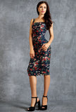 The Alexandra Dress in poppy floral print