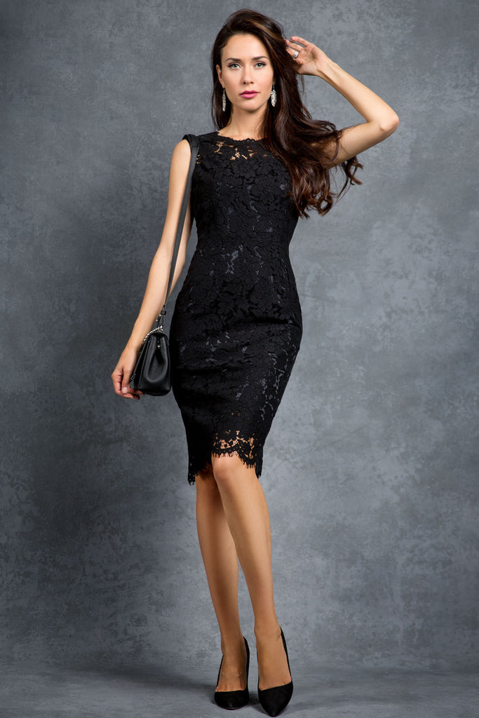The Cali - Sleeveless Lace Dress