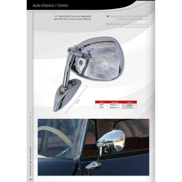 Classic and Vintage Car Mirrors 7552/53-pair