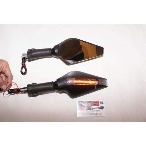 Ducati style - Buell 1125 Firebolt LED Mirrors-Pair 6225/26