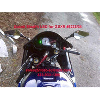 Suzuki GSXR Turn Signals Mirrors Black - 6237/38  Pair