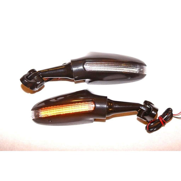 1999-2015  Honda CBR with Ducati LED Mirrors Black 6715/16H-Pair