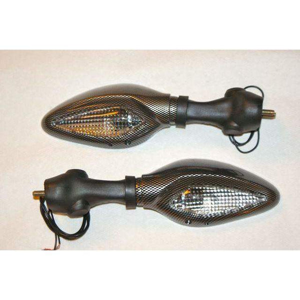 Ducati Supersport 600 620 750 800 900 Corse Turn Signal Mirrors 5322/23 CF Pair