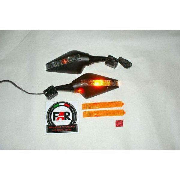 Honda CBR 900RR-VTR 1000 Turn Signal Mirrors Black Pair 6147-48