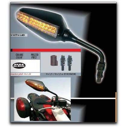 Piaggio MP3 250, 400, 500 LED Gran Turismo Mirrors 6885MPKIT Pair