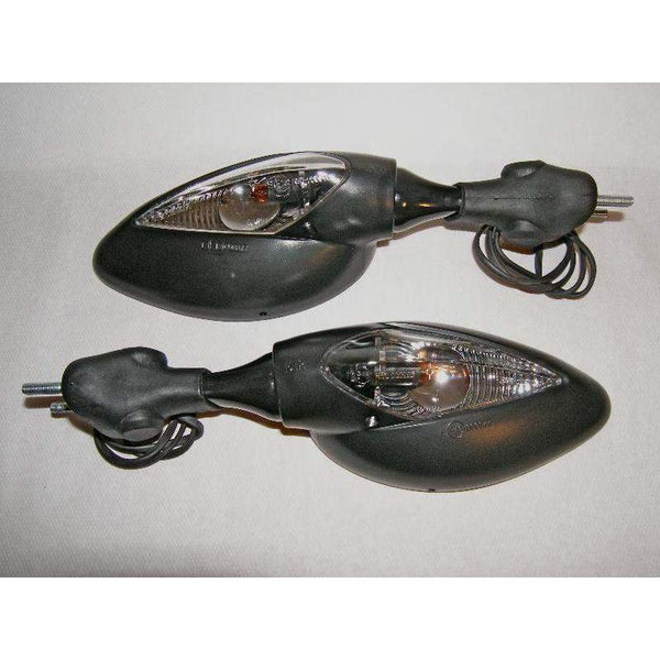 Ducati Supersport Classic Turn Signal Mirrors Black 5427/28-Pair