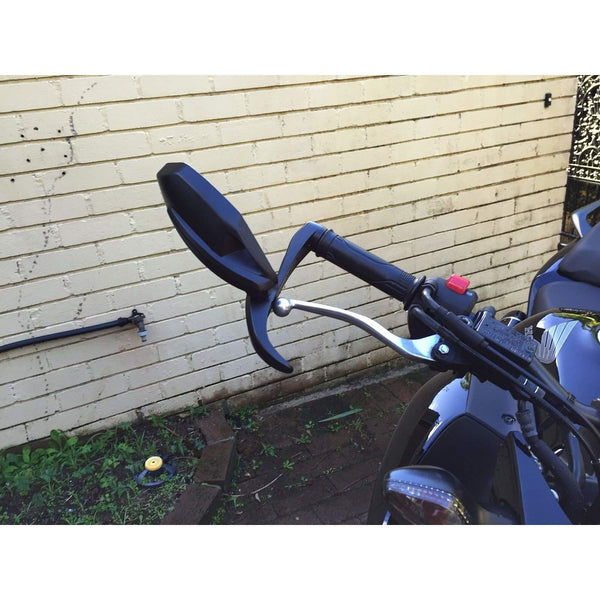 Folding bar end mirror with lever guards 7490/91 left or right side each