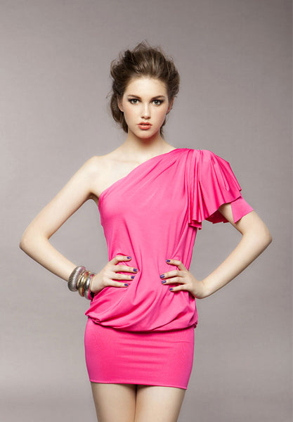 Off the Shoulder Pink Dress - Canadian Online Shopping Hub - 1