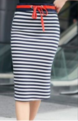Striped Tube Skirt - Canadian Online Shopping Hub - 1