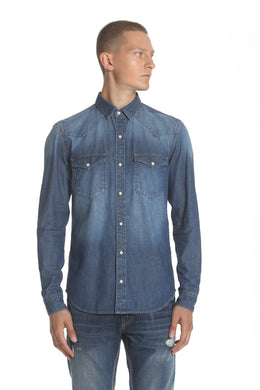Western Denim Shirt - Medium