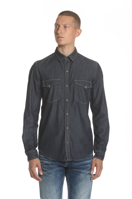 Western Denim Shirt - Dark Indigo
