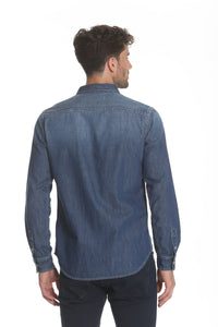Western Denim Shirt - Medium Wash