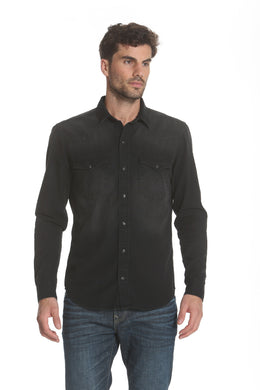 Western Denim Shirt - Black