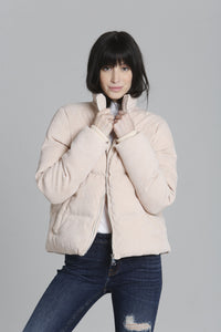 Corduroy Puffer - Light Pink