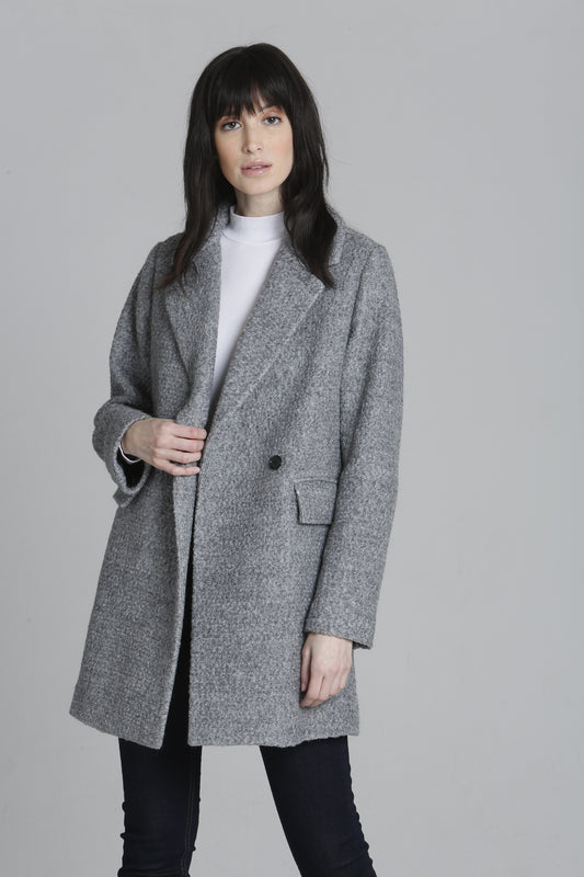 Wool Long Coat - Grey