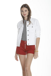 Basic Denim Jacket - White