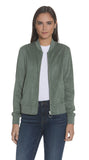 Sage Suede Perforated Jacket