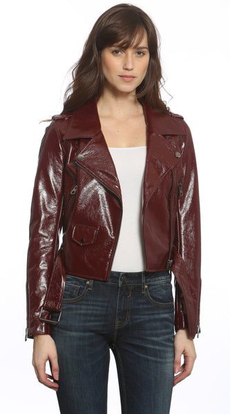 Patent Leather Biker Jacket