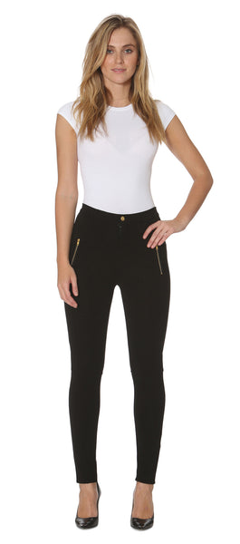 Single Gold Zip Legging
