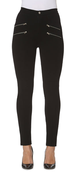 Double Silver Zip Legging