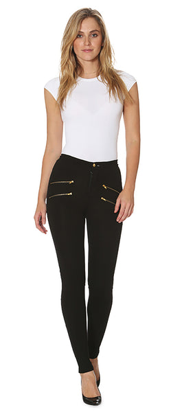 Double Gold Zip Legging