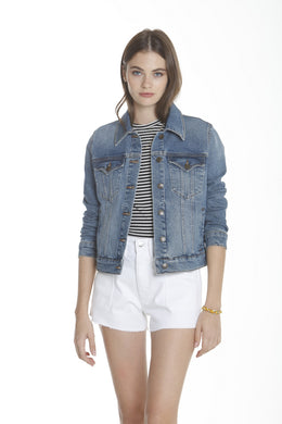 Basic Denim Jacket - Med Wash