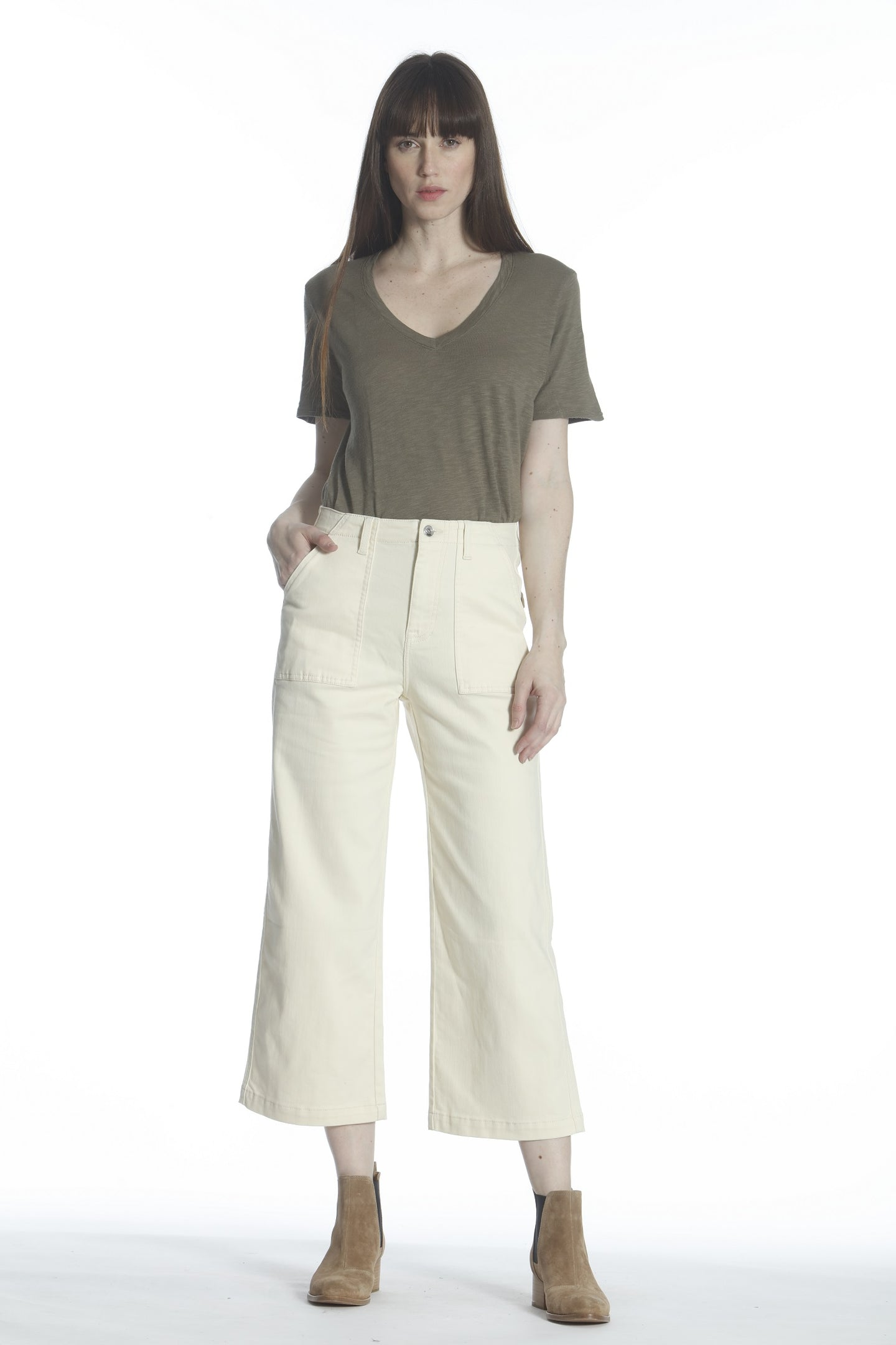 Dylan High Rise Wide Leg - Off White
