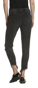 Jagger Classic Fit Skinny Shark Bite - Black