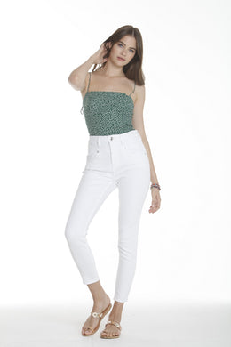 Rebel High Rise Skinny - White