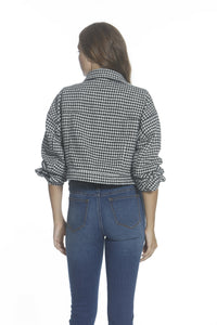 Crop Jacket - Houndstooth