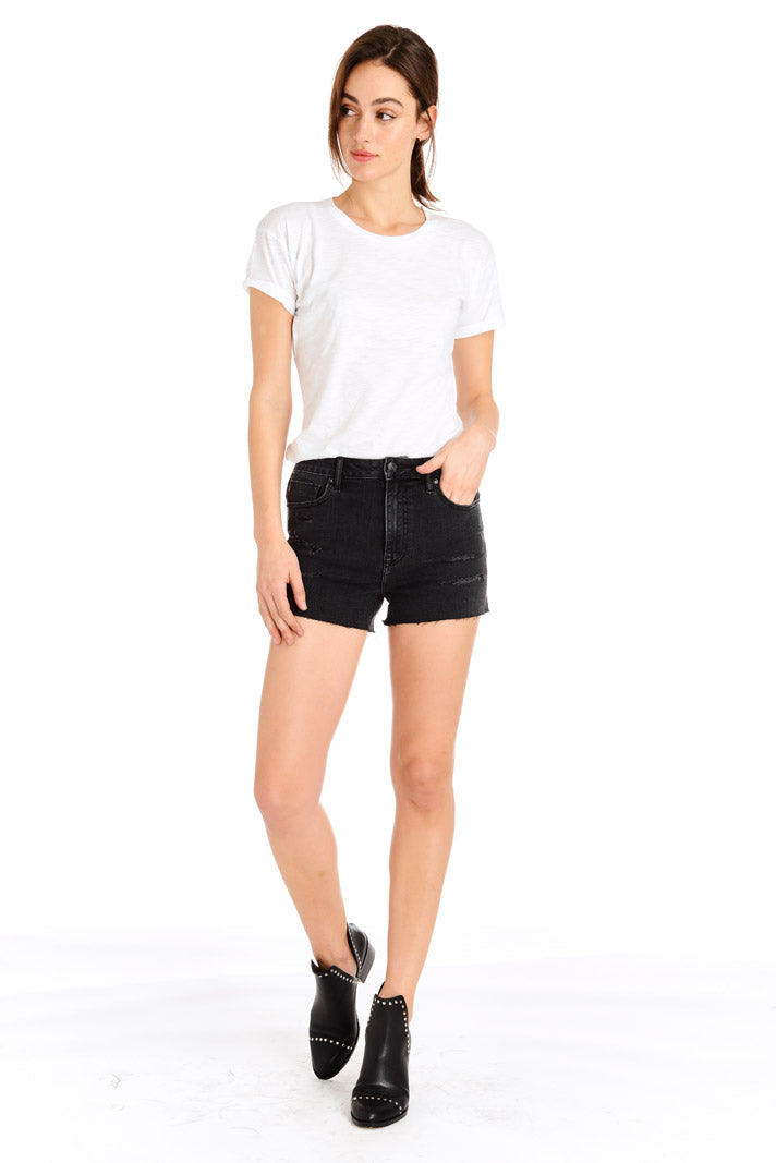 Friday Tapered Boyfriend Short - Black