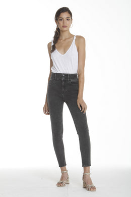 Rebel High Rise Skinny - Washed Black