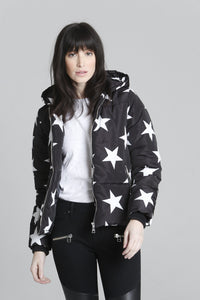 Star Puffer Jacket - Black