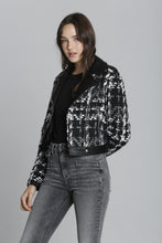Tweed Plaid Moto - Black