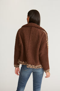 Sherpa Jacket - Brown Leopard