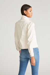 Puff Sleeve Denim Jacket - Off White