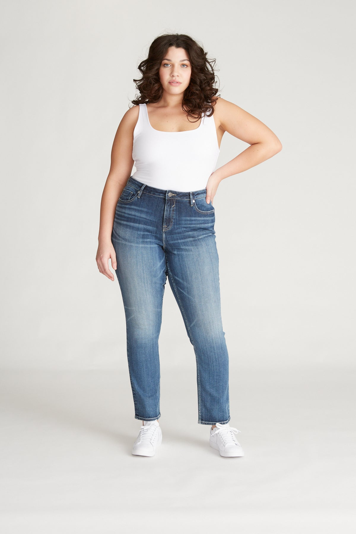 Marley Mid Rise Straight [Plus Size] - Med
