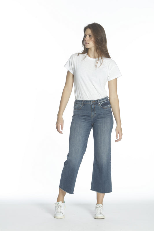 Dylan Wide Leg - Med Wash