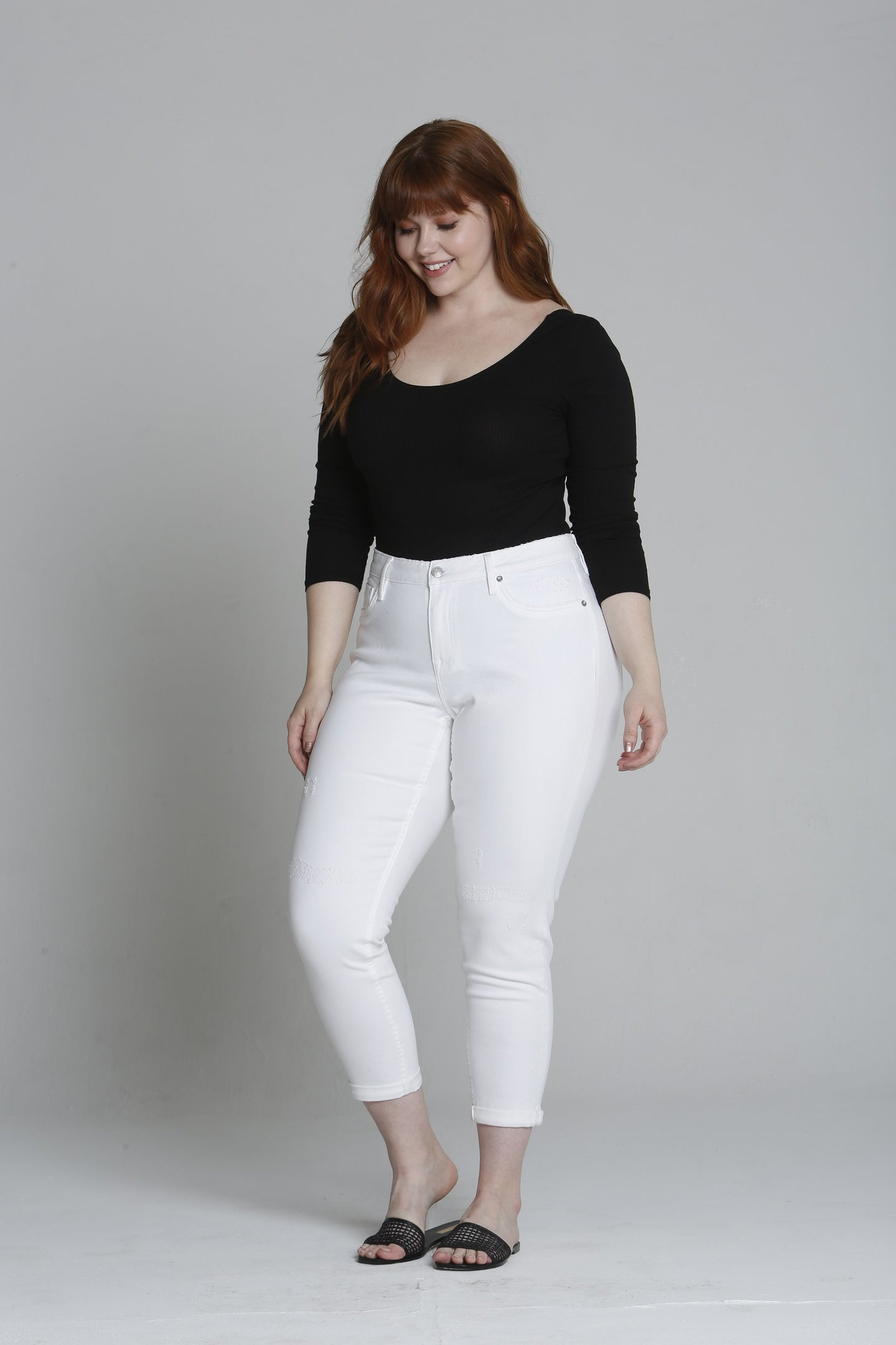 Elaine Girlfriend [Plus size] - White