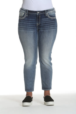 Dallas Skinny - Med Wash [Plus Size]