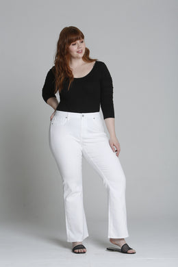 Jagger Boot Cut [Plus Size] - White