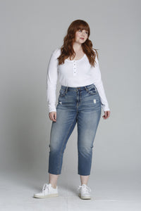 Stevie High Rise Crop Straight [Plus Size] - Medium