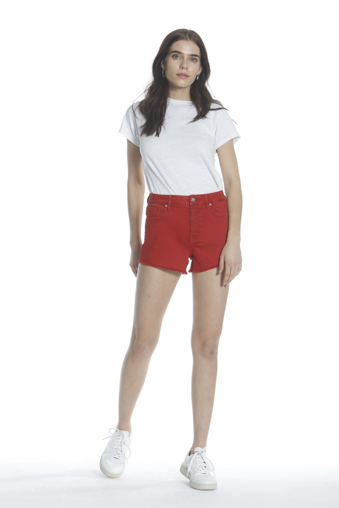 Ace High Rise Short - Red