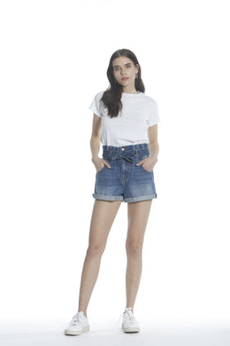 Paperbag Waist Short - Dark