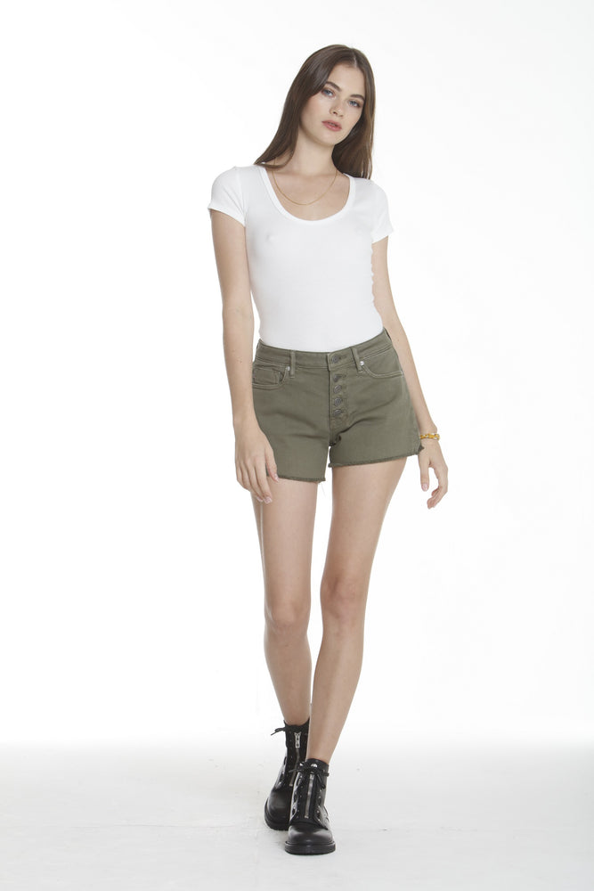 Ace High Rise Short - Olive
