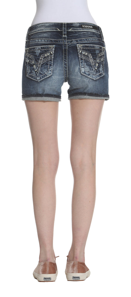 Chelsea Short - Dark Wash