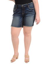 "Dark Wash 8"" Short [Plus Size]"