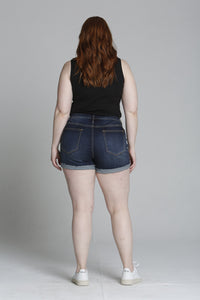 "Dark Wash 4"" Short [Plus Size]"